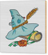 Scarecrow Hat From Wizard Of Oz Wood Print
