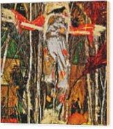 Scarecrow In Bellagio Conservtory In Las Vegas-nevada Wood Print