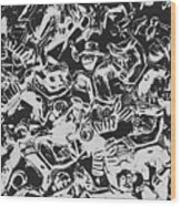Scarecrows From All Hallows Way Wood Print
