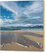 Scarista Beach Isle Of Harris Wood Print