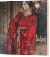 Scarlet Empress Wood Print