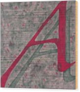 Scarlet Letter With Green Background Wood Print
