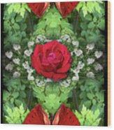 Scarlet Rose Wood Print