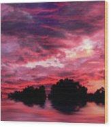 Scarlet Skies Wood Print