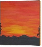Scarlet Sunset  Sold Wood Print