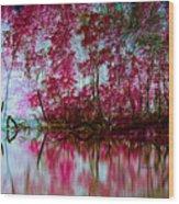 Scarlet Water Wood Print