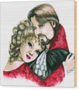 Scarlett And Nick Wood Print