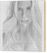Scarlett Johannson Wood Print