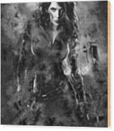 Scarlett Johansson Black Widow Wood Print