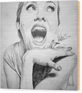 Scarlett Johansson Wood Print