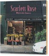 Scarlett  Rose Wood Print