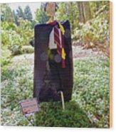 Scarry Potter Scarecrow At Cheekwood Botanical Gardens Wood Print