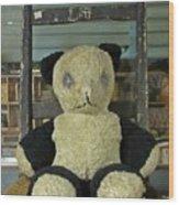 Scary Teddy Wood Print