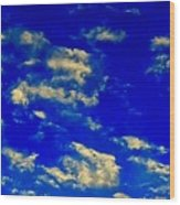 Scattered Clouds Wood Print