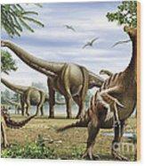 Scelidosaurus, Nothronychus Wood Print
