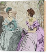Scene From Anthony Trollope's Novel He Knew He Was Right Wood Print