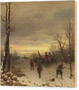 Scene From The Thirty Years War Wood Print