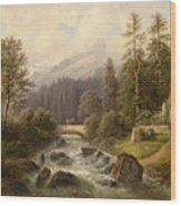 Scene From Weyer Upper Austria Wood Print
