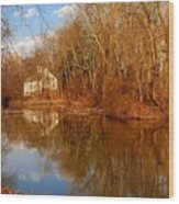 Scene In The Forest - Allaire State Park Wood Print