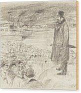 Scene Of A Strike (third Plate) Wood Print