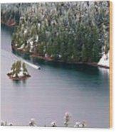 Scene Over Diablo Lake Wood Print