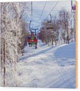 Scenery Around Timberline Ski Resort West Virginia Wood Print