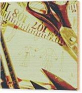 Scenes From A Seamstress Wood Print