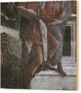 Scenes From The Life Of Moses Detail Alessandro Botticelli Wood Print