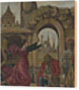 Scenes From The Life Of Saint Vincent Ferrer Wood Print