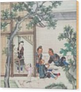 Scenes Of Daily Life Wood Print