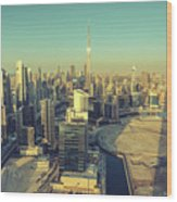 Scenic Aerial View Of Dubai Wood Print