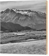 Scenic Alaska Bw Wood Print