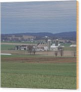 Scenic April Amish Vista Wood Print