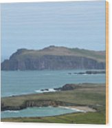Scenic Blasket Islands As Seen From Slea Head Penninsula Wood Print