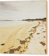 Scenic Coastal Calm Wood Print