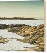 Scenic Coastal Dusk Wood Print