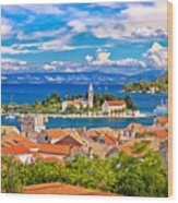 Scenic Island Of Vis Waterfront Wood Print