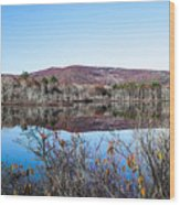 Scenic Lake On The Kancamangus Wood Print