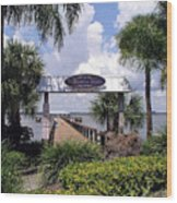 Scenic Melbourne Beach Pier  Florida Wood Print