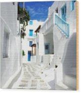 Scenic Mykonos Wood Print