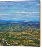 Scenic Road To Zagreb Wood Print