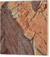 Scenic Sandstone In Valley Of Fire Wood Print