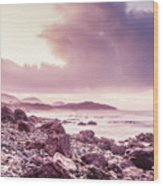 Scenic Seaside Sunrise Wood Print