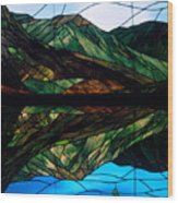 Scenic Stained Glass  Wood Print