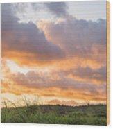 Scenic Sunset In Poipu, Kauai Island Wood Print