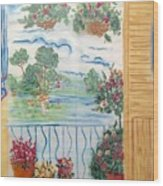 Scenic View From The Terrace Wood Print