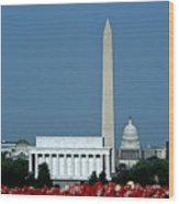Scenic View Of Washington D.c Wood Print by Kenneth Garrett