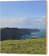 Scenic Views Of The Cliff's Of Moher In Ireland Wood Print