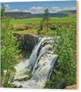 Scenic White River Falls Wood Print