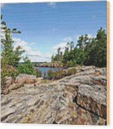 Scenic Wreck Island Wood Print